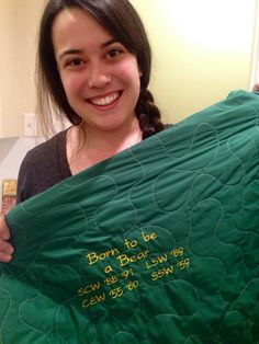 Good idea! Sew the names and grad years of all the #Baylor bears in your family onto a blanket.