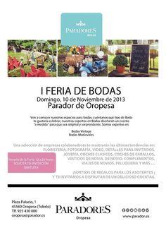 I Feria de Bodas Parador de Oropesa #bodas #blogdeviajes