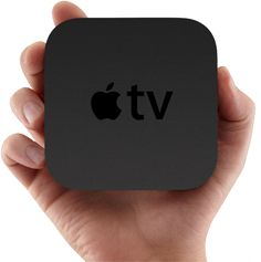 Apple TV is a tiny entertainment powerhouse that plays the content you love from iTunes, Netflix, YouTube, and your favorite sports leagues on your widescreen TV. In up to 1080p HD. Just plug it in and discover a whole world of movies, TV shows, photos, music, and more. You're gonna need a better couch.