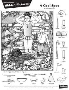 Activities For Adults, English Activities, Preschool Activities, Adult Coloring, Coloring Books, Coloring Pages, Hidden Pictures Printables, Hidden Picture Puzzles, Indoor Games For Kids