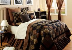 Primitive quilt patterns   Country and Primitive Bedding, Quilts - Colfax Bedding by Victorian ... #PrimitiveBedroom