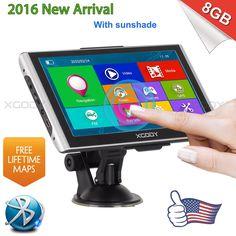 XGODY 7 8GB Truck Car GPS Navigation System SAT NAV w/ Bluetooth Lifetime Maps