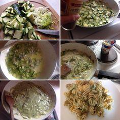 Maccheroncini alla crema di zucchine e gorgonzola