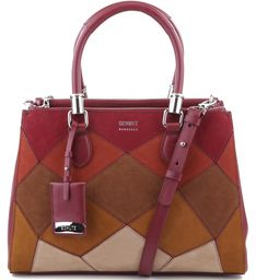 TOTE LORENA PATCHWORK RED WINE