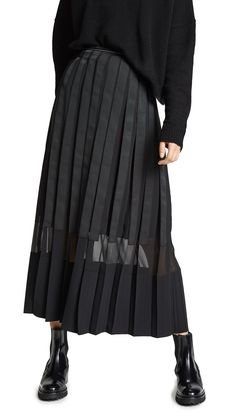 5ef71680ab 3.1 PHILLIP LIM GROSGRAIN PLEATED SKIRT.  3.1philliplim  cloth Long Skirt  Outfits