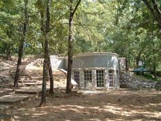 Just love the roundness of this. Beautifully well-designed underground home from 1983 for sale in Denison, TX