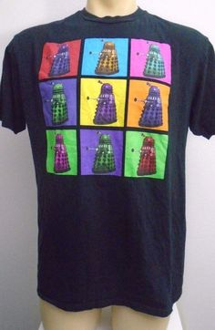 72440420c880d Dr Who Dalek Pop Art T Shirt Size XL  drwho  ShortSleeve Dalek