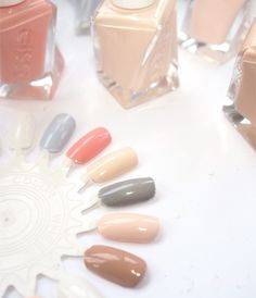 Love these colours 💓 // Essie Spring 2017 Ballet Nudes