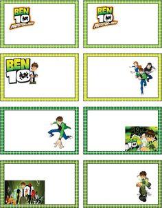 Free Ben 10 printable tag or sticker sheet #free