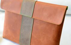 MacBook Pro (Retina) Leather Sleeve / Case - BIG PAPAYA (Organic Leather) on Etsy, $149.00
