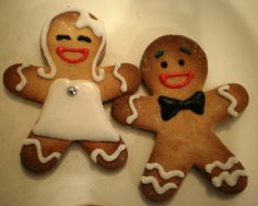 Mr and Mrs Gingerbread  from my wedding