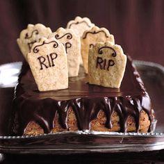 """Martha Stewart's Pumpkin Spice """"Graveyard Cake"""" with Chocolate Icing"""