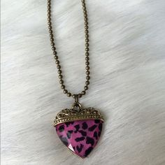 """Heart necklace Heart necklace. Brand new with tags. Ball chain closure. Chain measures 26"""" long. No extender. Pendant is 1"""" long and 1"""" tallPrice is firm unless bundled. No tradesAVAILABILITY- 5All jewelry gets a great discount when bundled!! Boutique Jewelry Necklaces"""