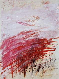 "webabstractart: "" Cy Twombly.PAN (PART III),1980.Mixed media on paper. """