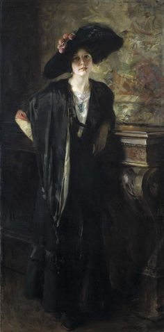 Irving R. Wiles (1861-1948) : My Daughter Galdys, c. 1913. Smithsonian American Art Museum, Washington, DC.