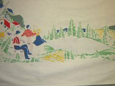Vintage Tablecloth Pioneers of the Midwest