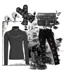 """Buckle up"" by thegothicshop ❤ liked on Polyvore featuring KENZI and Reactor"