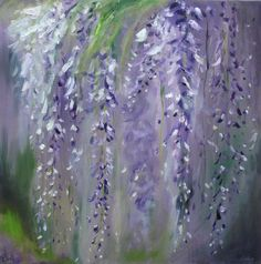 Fine Art Print Flower Painting // Wisteria by KatieJobling on Etsy, £21.99