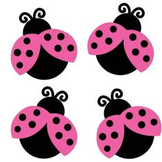 Lady Bugs....sweet in the Pink                                                                                                                                                                                 More