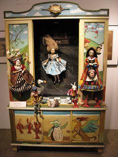 Alice In Wonderland Toy Theatre. Paper Dolls, Art Dolls, Night Gallery, Toy Theatre, Adventures In Wonderland, Assemblage Art, Box Art, Antique Dolls, Beautiful Dolls