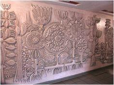 Concrete Forms, Concrete Wall, Mural Painting, Mural Art, Buddha Wall Art, High Art, Panel Art, Art Deco Design, Installation Art