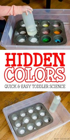 Hidden Colors – Toddler Science Experiment: Check out this cool twist on an old classic. Toddlers will love this fun indoor science activity!