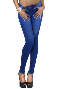 Women's Sexy Vintage Dark Wash Skinny Jeans with Back Pockets at Amazon Women's Jeans store
