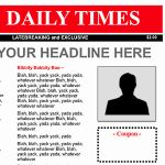 "all-purpose front page template. try this 11""x14"" newspaper, Powerpoint templates"