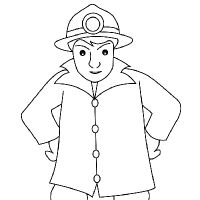 drawing fireman learn how to draw a fireman with simple step by step instructions