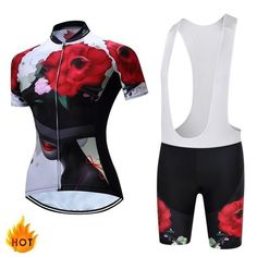 Women's Cycling Jersey and Shorts - Variety of Patterns and Colors