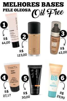 Beijo Colorido blog: Melhores bases para pele oleosa (bases matte - oil free) Love Makeup, Makeup Tips, Beauty Makeup, Hair Makeup, Make Beauty, Beauty Care, Beauty Hacks, How To Make Hair, Make Up