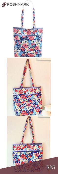 Vera Bradley Tote Good condition. Can be washed in washing machine. In the pattern Summer Cottage Vera Bradley Bags Totes