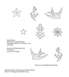 1920s nautical embroidery motifs. I don't do embroidery, but I could probably use these for something else at some point