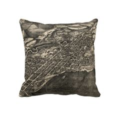 Vintage Pictorial Map of Aspen Colorado (1893) Pillow from Zazzle.com $62.40