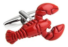 Free Shipping New Arrival Red Cufflinks Novelty Lobster Design Best Gift For Men Cuff Links Wholesale&retail