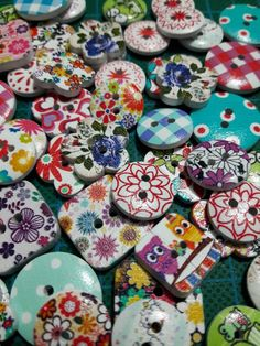Buttons for crafting or sewing.
