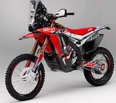 The 2014 Honda Rally. based mostly off the Honda enduro, HRC says that its new Honda Rally race bike has AN improved engine Concept Motorcycles, Racing Motorcycles, Street Tracker, Off Road Bikes, Dirt Bikes, Mx Bikes, Rallye Raid, Honda Africa Twin, Enduro Motorcycle
