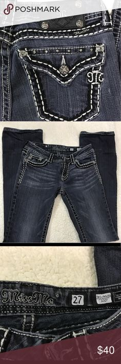 Women's Miss Me jeans size 27 bootcut Good condition preowned Miss Me Jeans Boot Cut