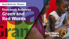 Read Write Inc. for parents - storybook activities, green and red words Ruth Miskin, Read Write Inc, Red Words, Phonics Activities, Eyfs, Teaching English, Literacy, Parents, Classroom