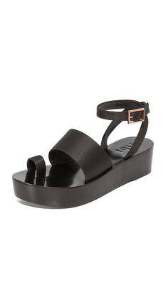 79b9e103302e Janie Satin Flatforms. Wedge SandalsBlack ...