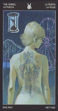 X. The Wheel of Fortune - Tattooed Tarot by Pietro Alligo, Cristiano Spadoni