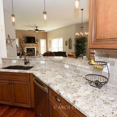 Supreme Kitchen Remodeling Choosing Your New Kitchen Countertops Ideas. Mind Blowing Kitchen Remodeling Choosing Your New Kitchen Countertops Ideas. Maple Kitchen Cabinets, Kitchen Cabinet Colors, Kitchen Paint, Kitchen Redo, New Kitchen, Kitchen Tiles, Country Kitchen, Taupe Kitchen, Honey Oak Cabinets