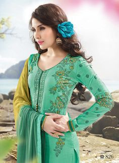 Suave Full Sleeve Ceremonial Suit with Elegant Resham and Thread Embroidery