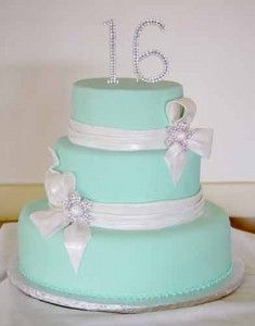 sweet 16, tiffany blue with bling!!