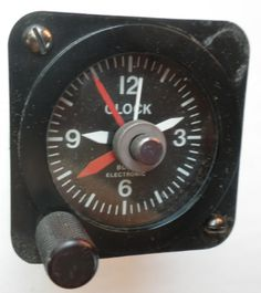 Aircraft Clock 12-14 Volt Quartz Unlit Serviced and Working with a 90 Day Guarantee + FREE Shipping!!! - $88.88 #Aircraft #Airplane #Clock #12Volt #14Volt #Quartz #Beechcraft #Cessna #Piper #Experimental #Unlit