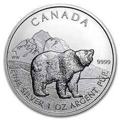 2011 CA Canada 1 oz Silver Wildlife Series Grizzly 1 OZ Brilliant Uncirculated – World Gold Coin Collector