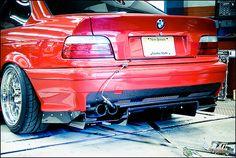Brilliantrot E36, Justin's M3, Turbo
