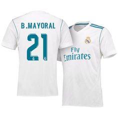 29f69b821dce3 Men 21 Borja Mayoral Jersey Soccer Real Madrid Jersey 2018 LaLiga