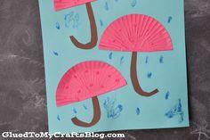 Cupcake Liner Umbrellas {Kid Craft}