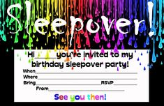 Free Printable Birthday Invitations For Boys Sleepover